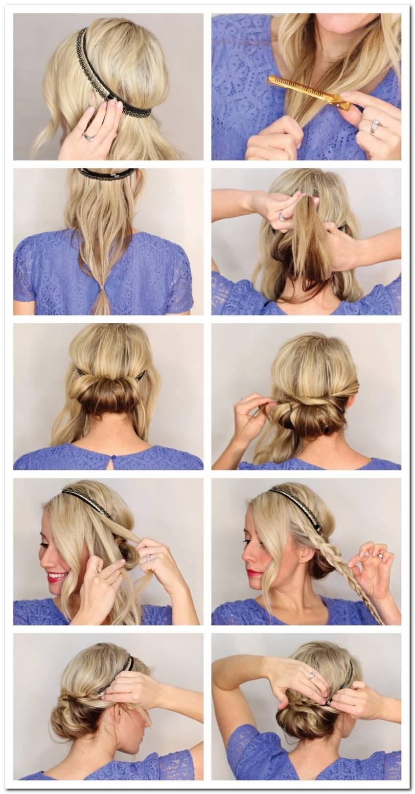 Frisuren Mit Blumen Haarband Anleitung