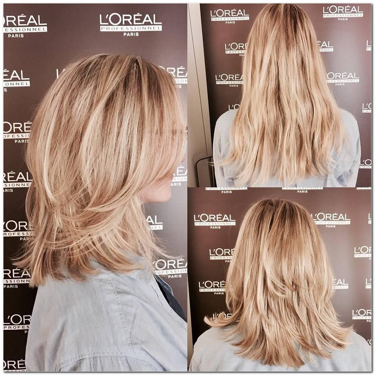 Frisuren Stufenschnitt Halblang