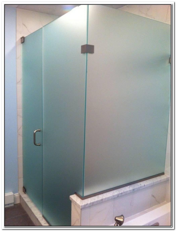 Frosted Glass Bathroom Corner Shower