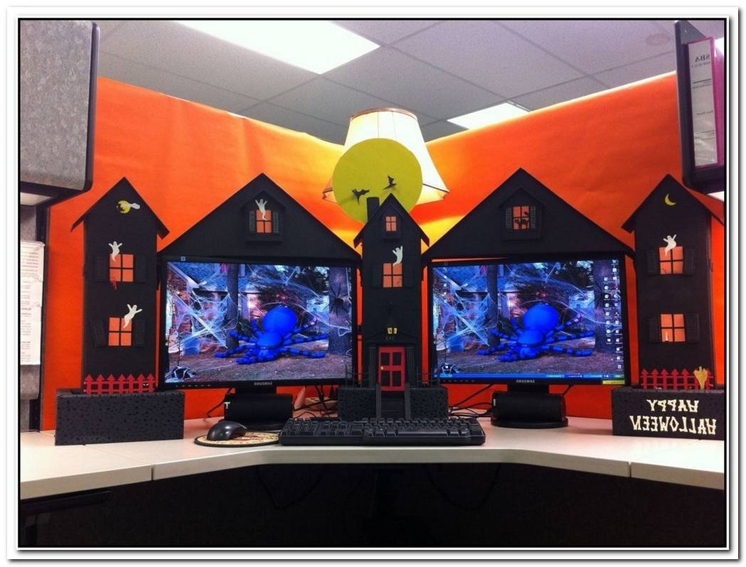 Fun And Spooky Halloween Office Decor Ideas