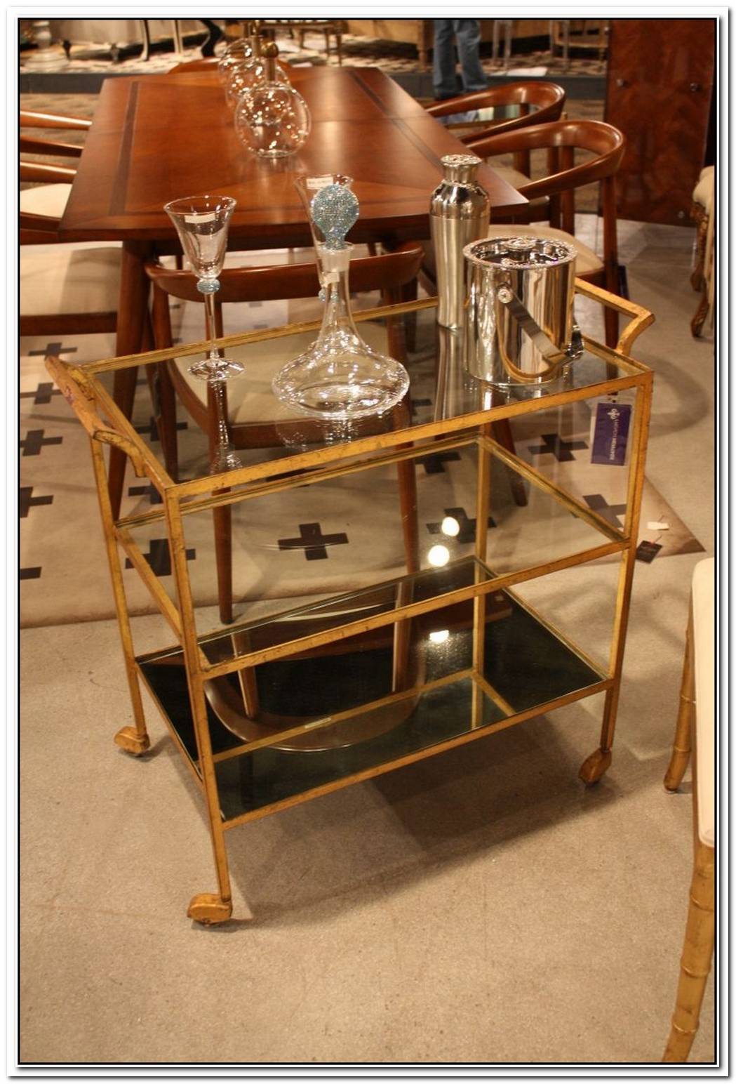 Glamorous Bar Carts Evoke The Past While Staying Modern