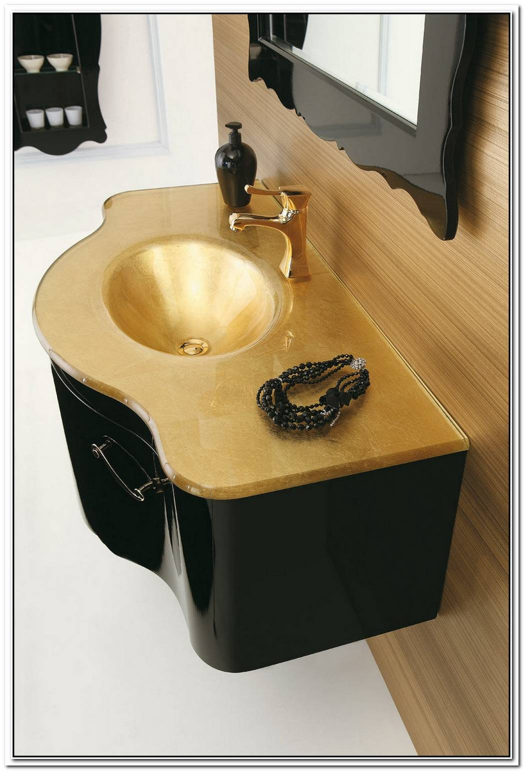 Gold Deco D05 Wall Washbasin Unit