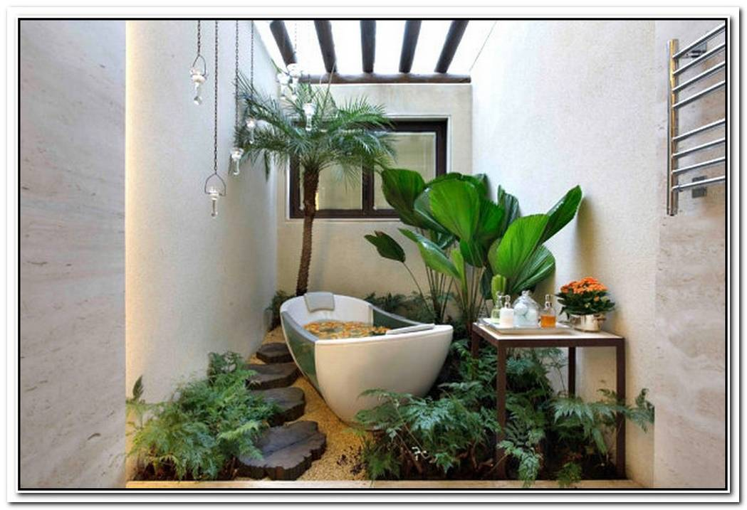Greenery Minimalist Bathroom Plant