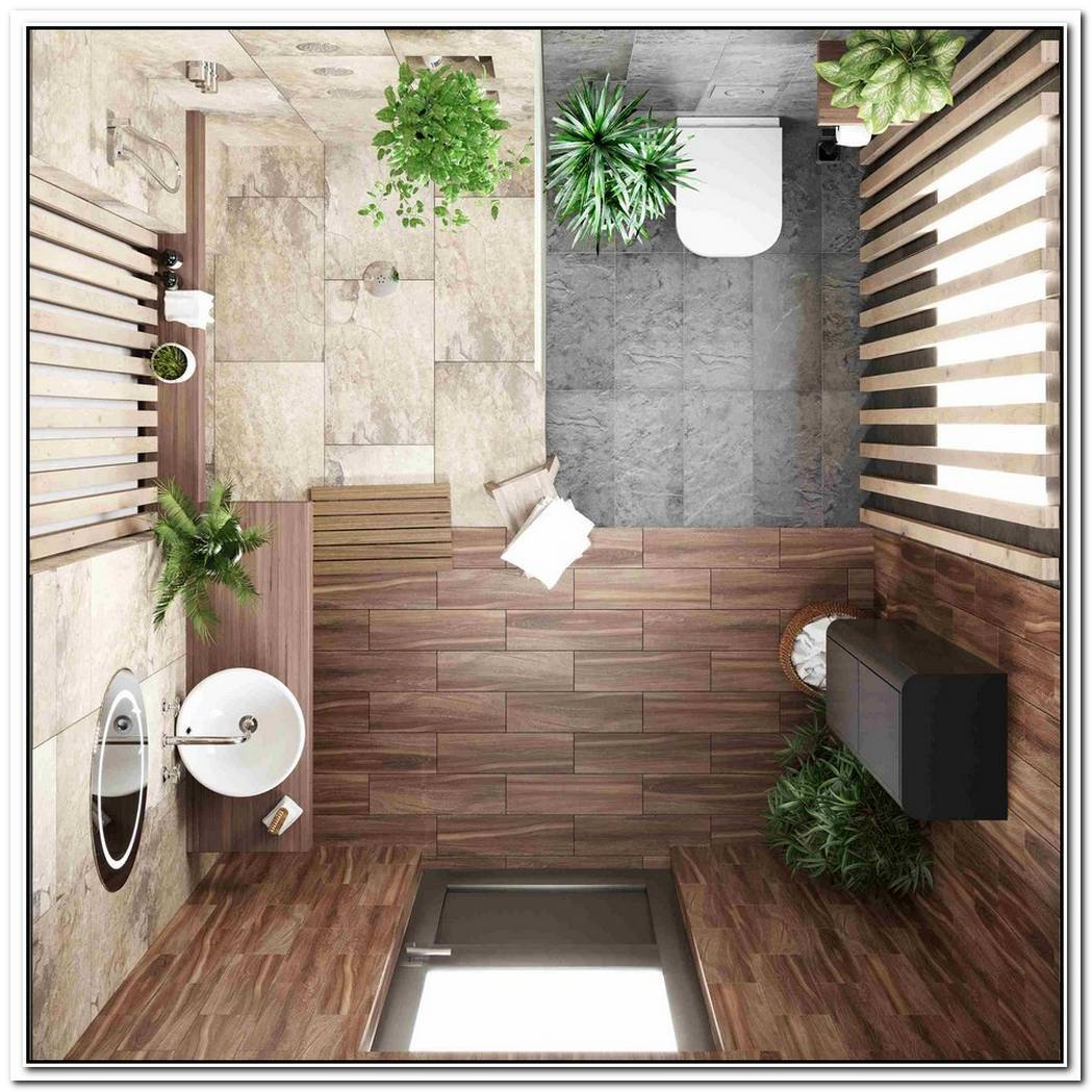 Greenery Tropical Bathroom