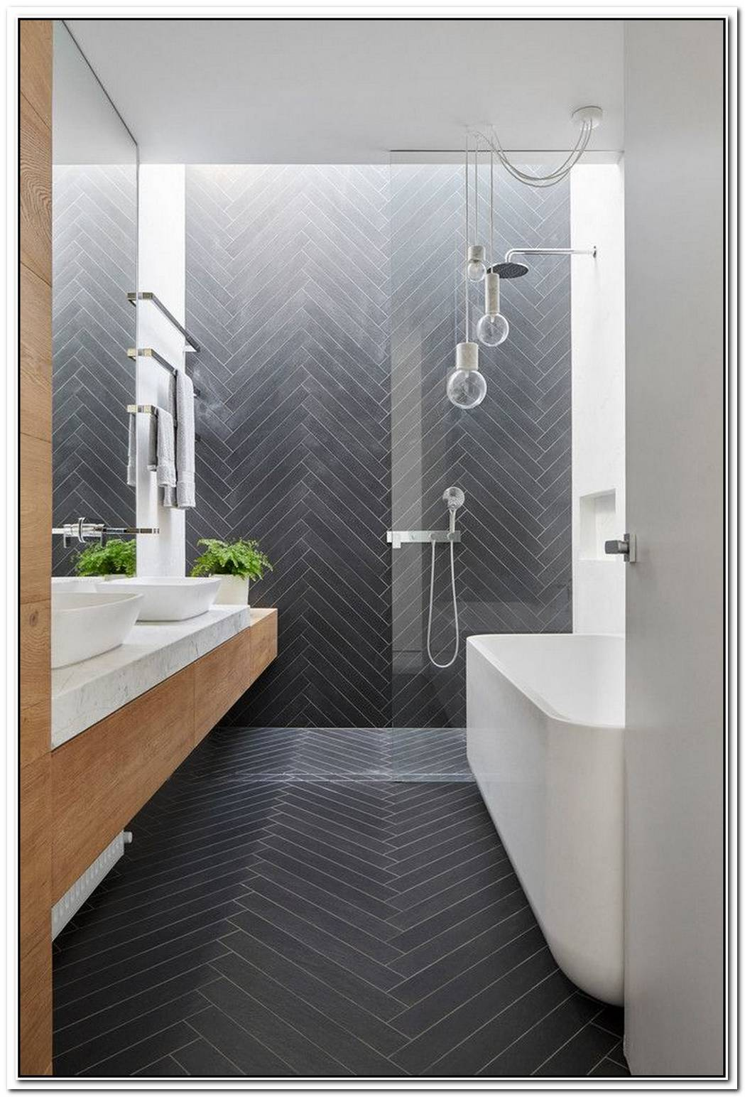 Grey Bathroom Small Glass Tile