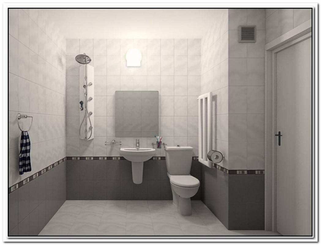 Grey Minimalist Bathroom Simple