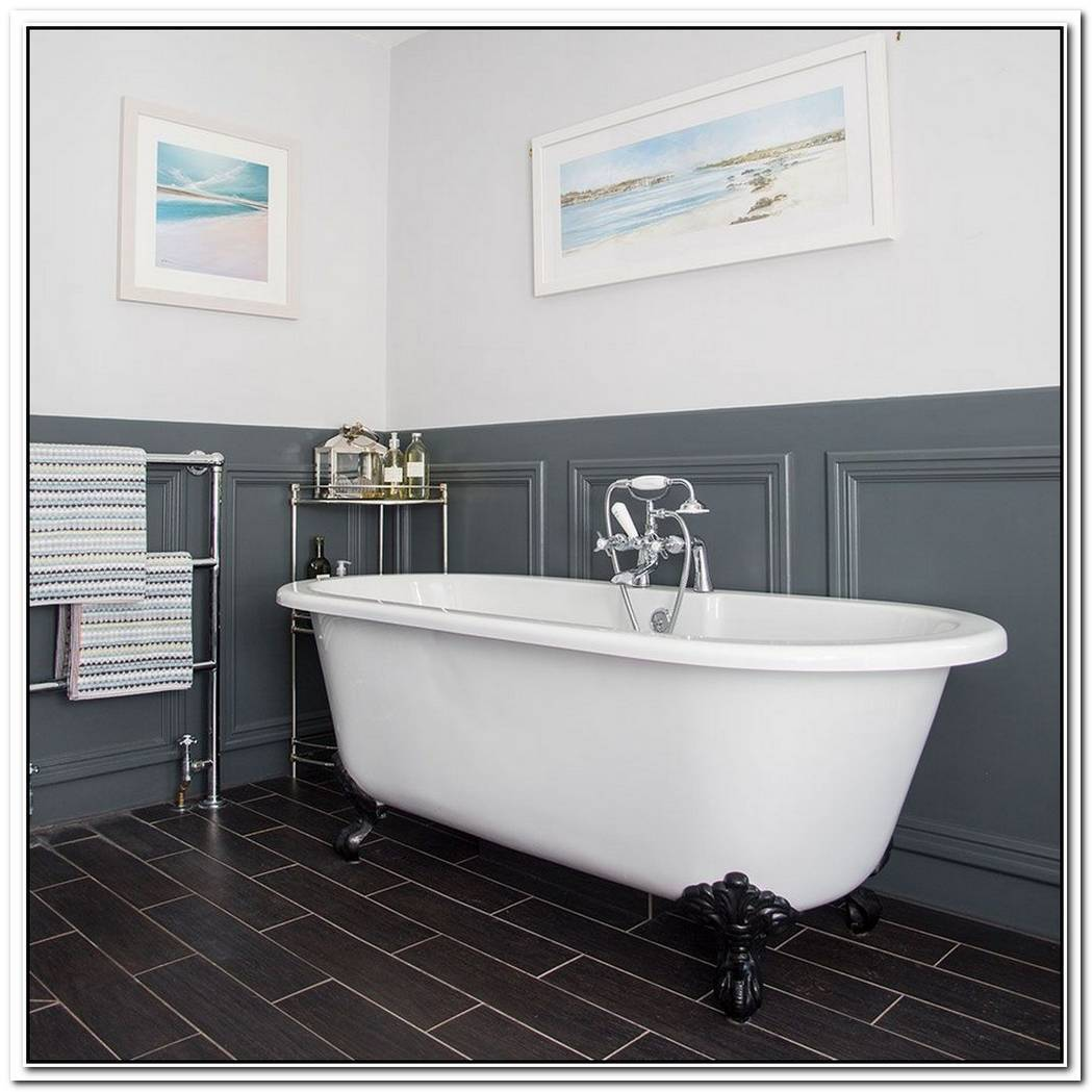 Grey Traditional Bathroom Panelled