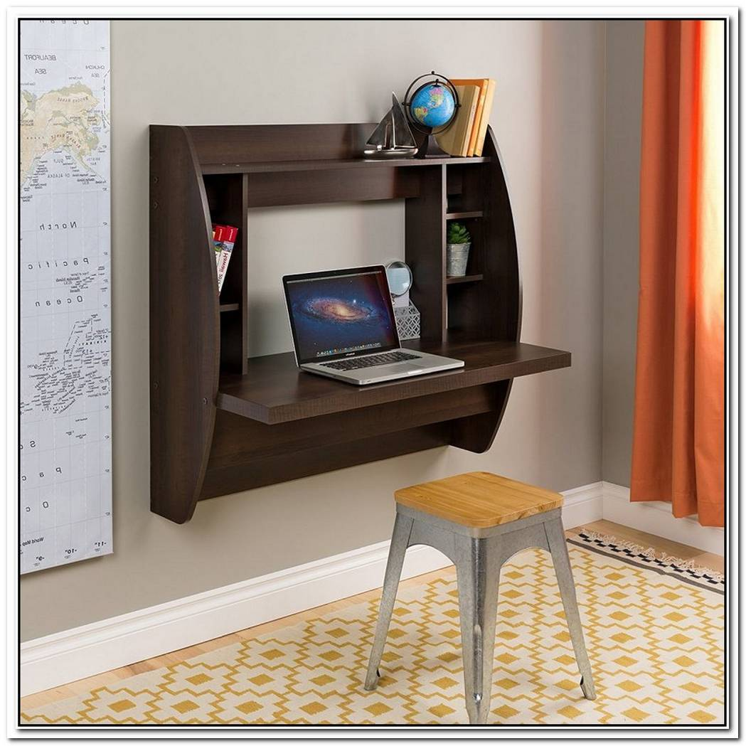 Helix White Oak Wall Mounted Desk