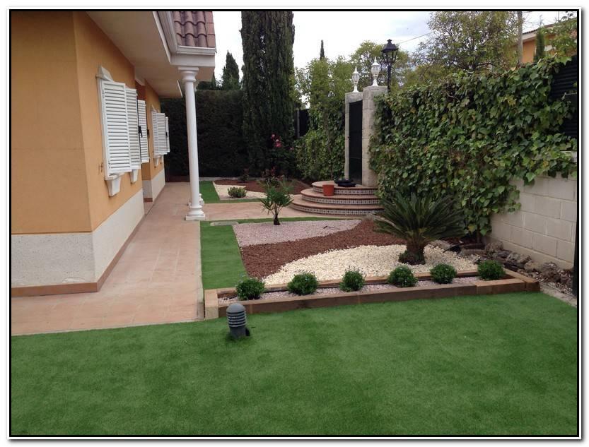 Hermoso Jardin Con Cesped Artificial Galería De Jardín Idea
