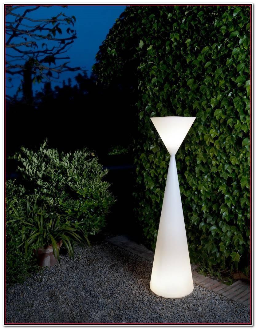 Hermoso Luces Jardin Solares Imagen De Jardín Decorativo