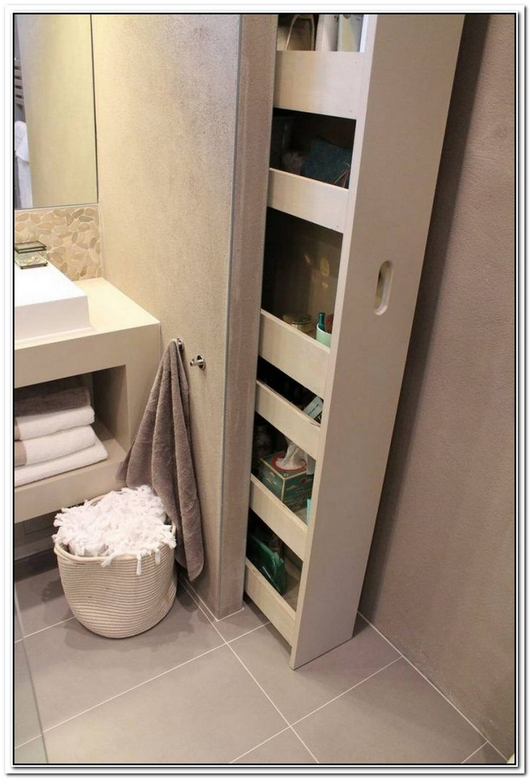 Hidden Bathroom Small Storage