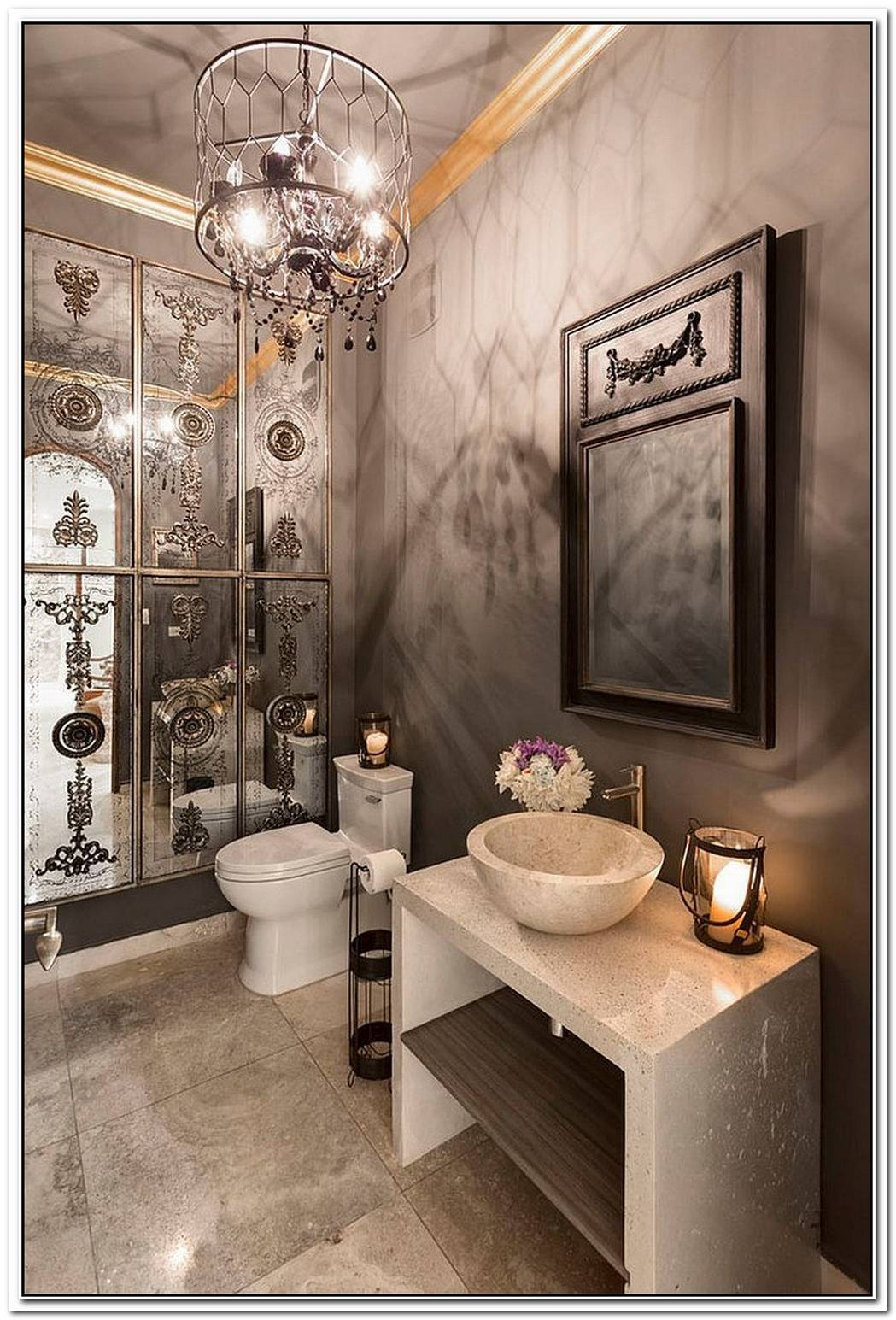Hot TrendsBest Mediterranean Style Powder Rooms With Modern Overtones