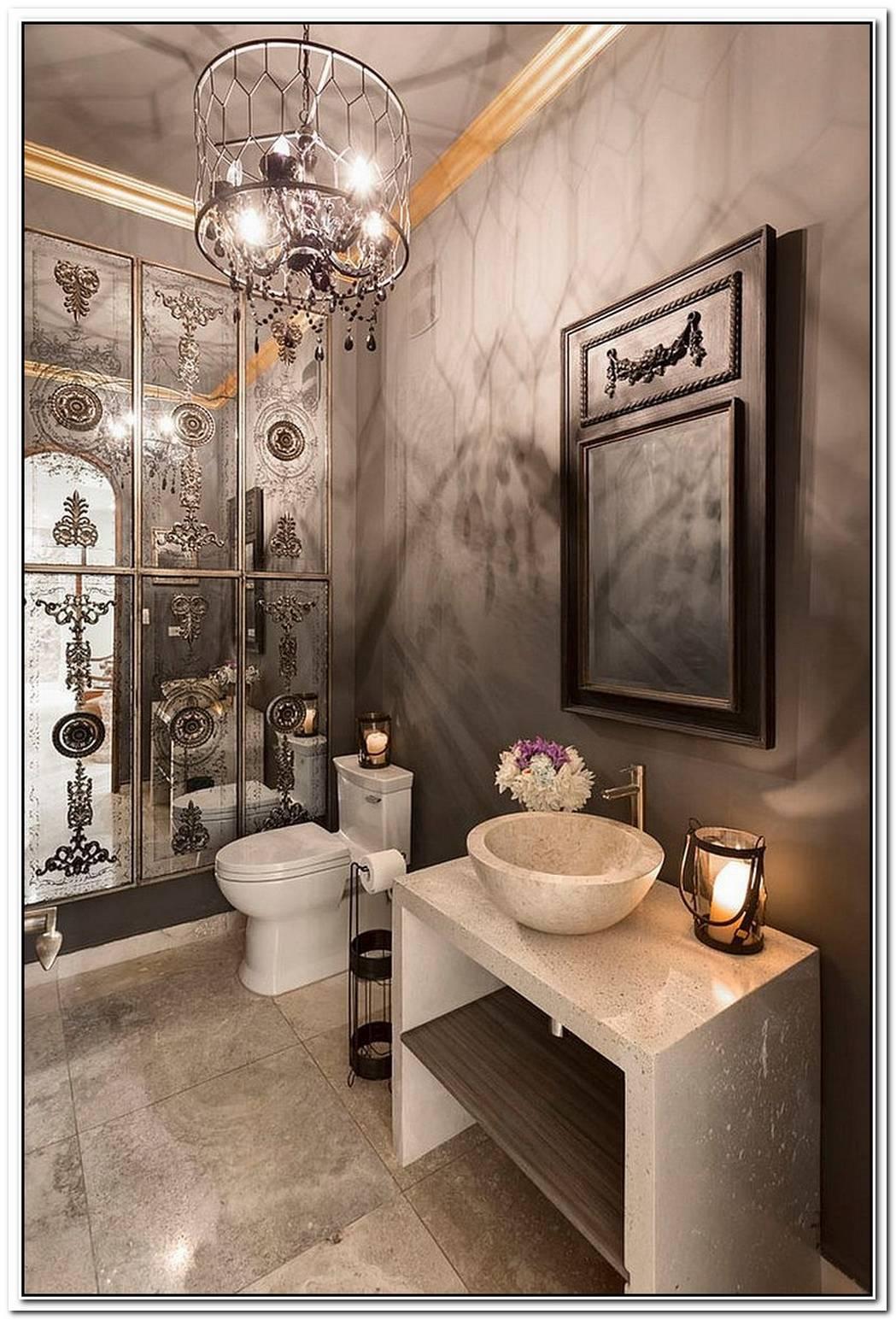 Hot TrendsBest Mediterranean Style Powder Rooms With Modern Overtones