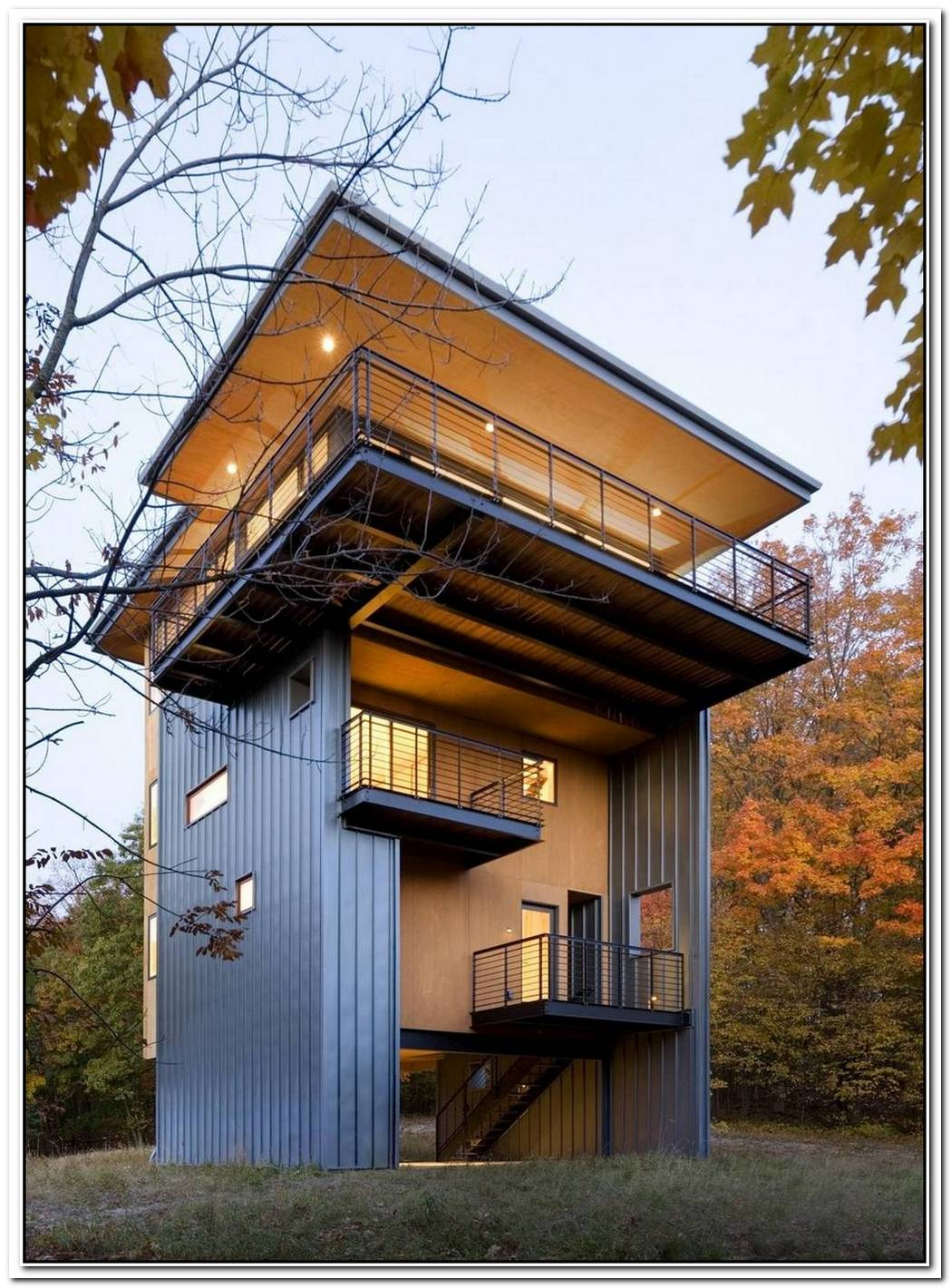 House Among Trees With A Stunning View