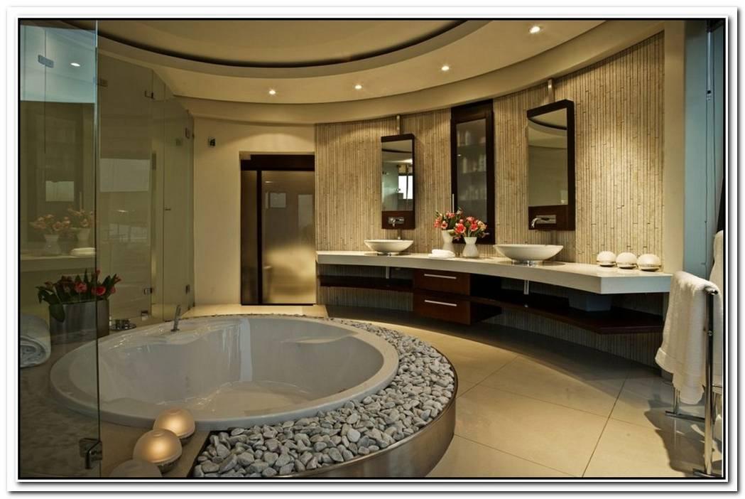 Huge Mansion Contemporary Bathroom