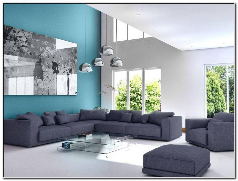 Idee Deco Salon Bleu Gris