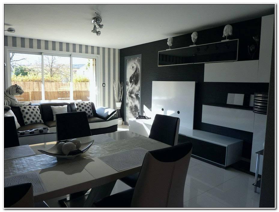 Idee Deco Salon Noir Blanc Gris