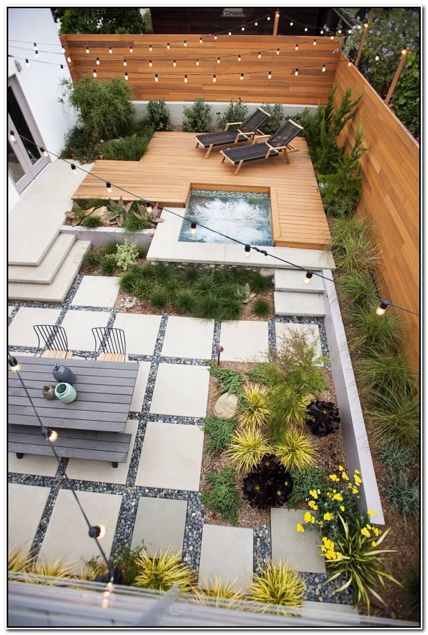 Impresionante Jacuzzi Jardin Imagen De Jardín Decorativo