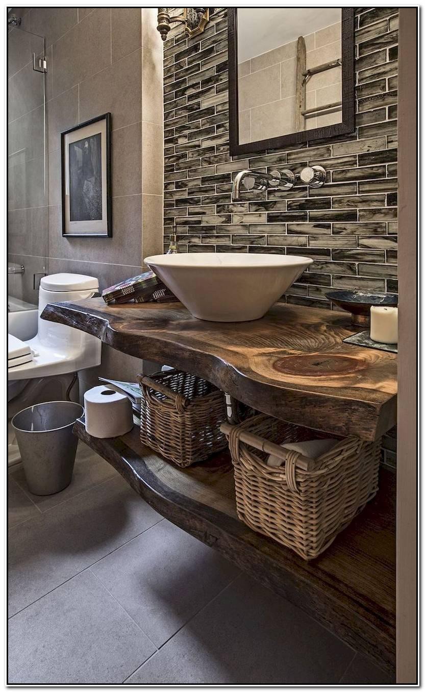 Impresionante Mueble De Baño Rustico Imagen De Baños Decoración