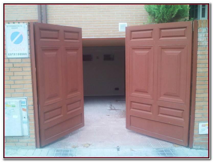 Impresionante Puertas Abatibles De Garaje Fotos De Puertas Decorativo