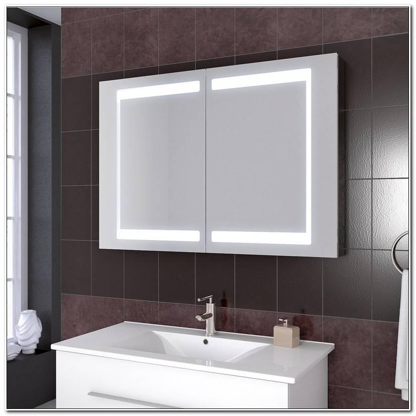 In Badschrank Mit Spiegel