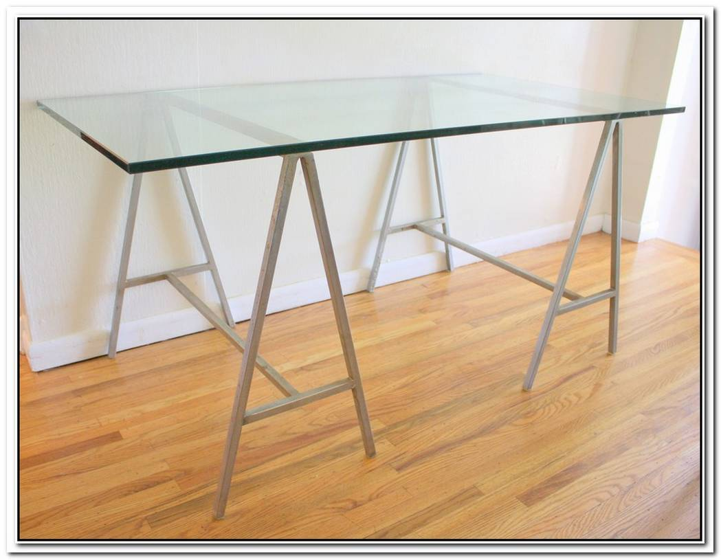 Industrial Table With Glass Top
