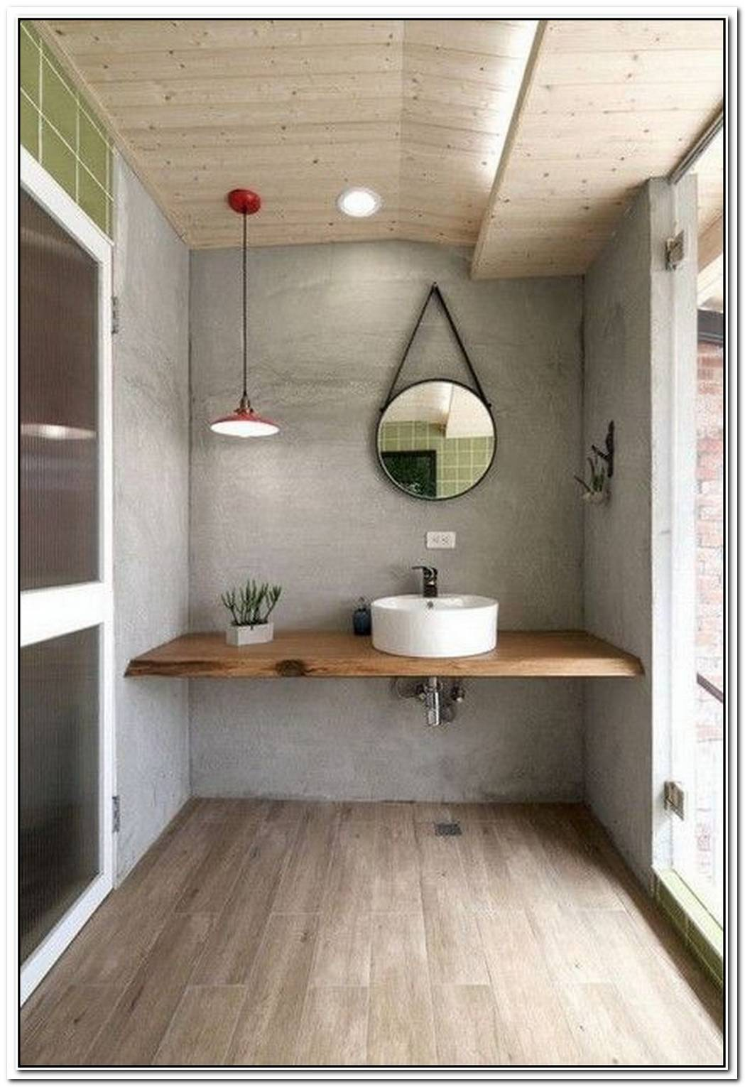 Industrial Wood Bathroom Small Industrial