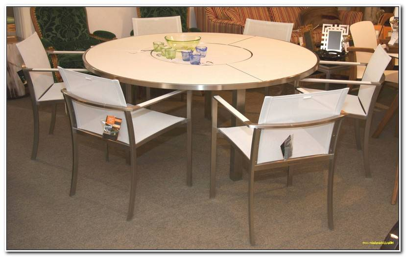 Inspirant Table Ronde Cuisine Pied Central