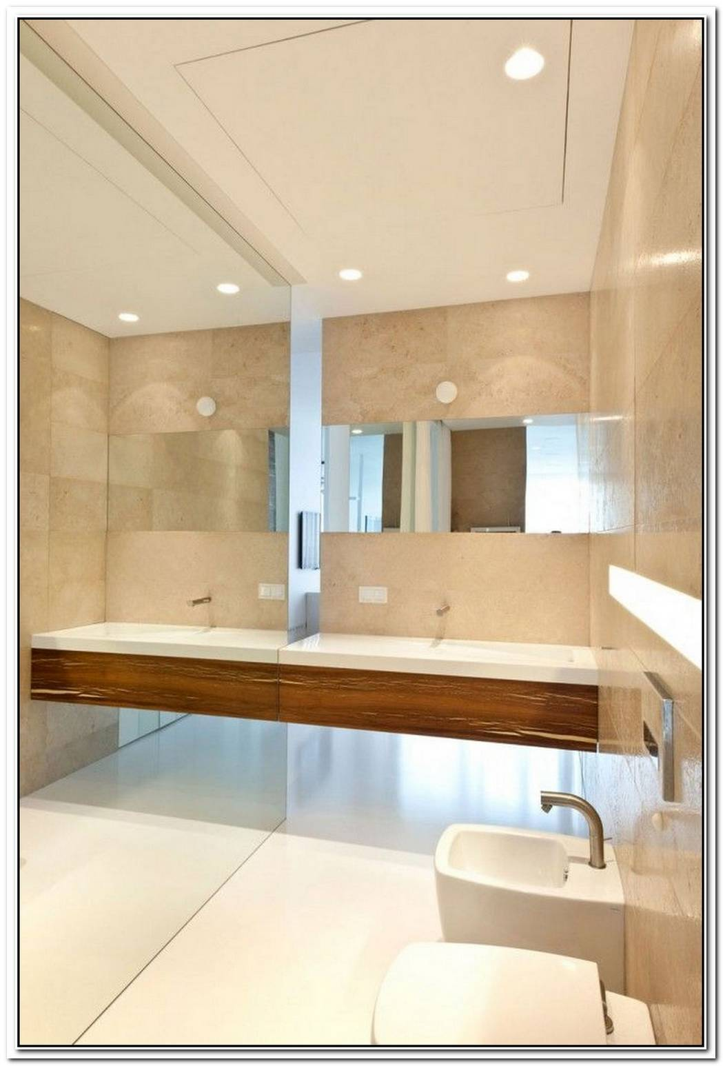 Interior Cream Contemporary Bathroom