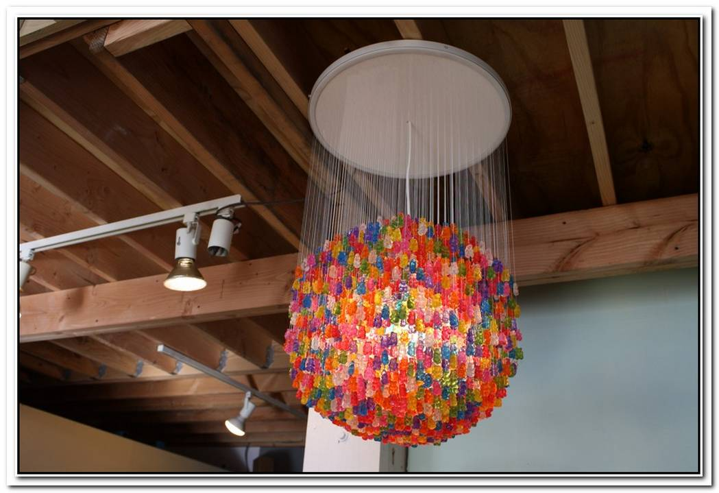 Inventive Paperclip Chandelier Design