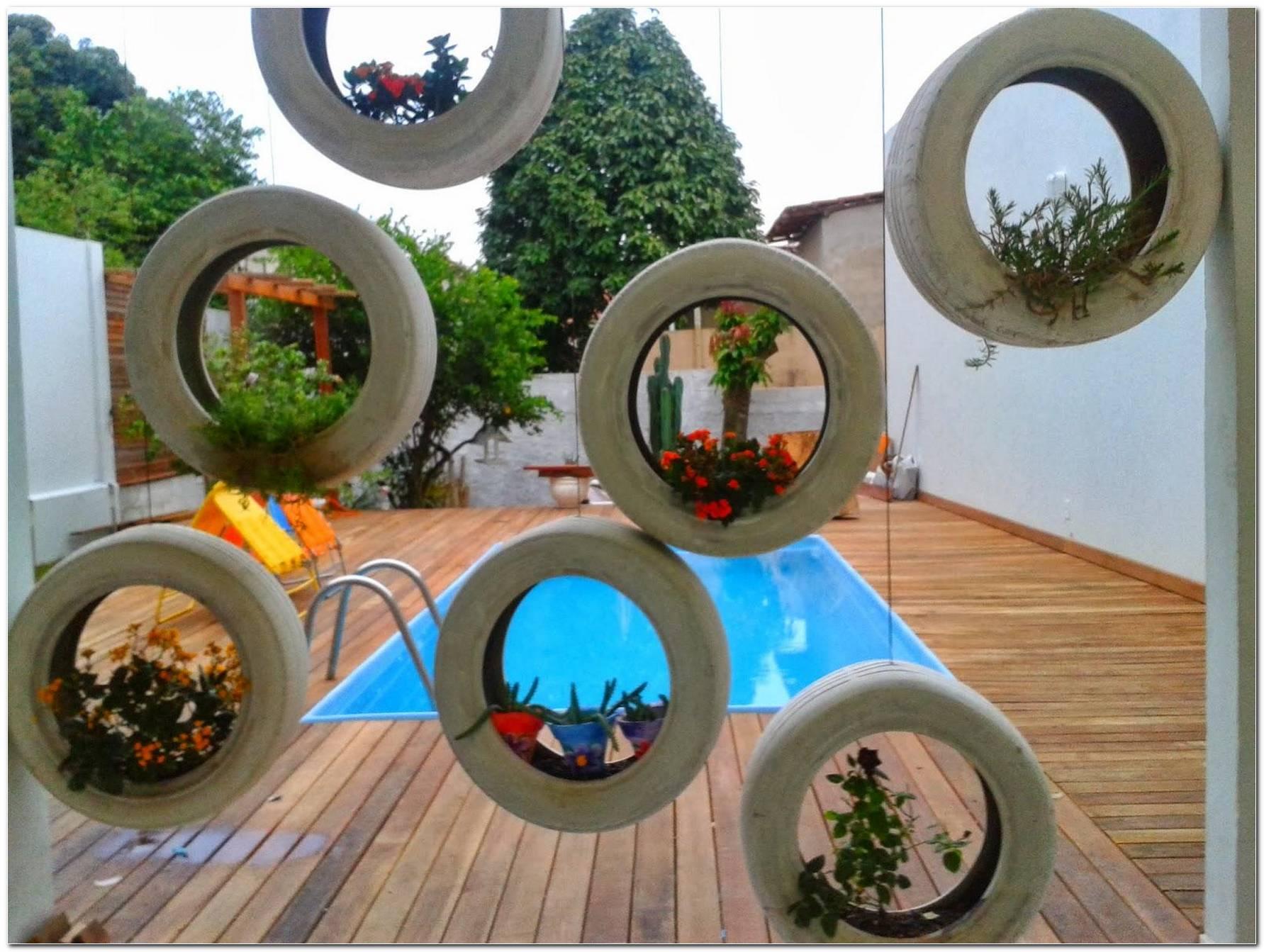 Jardim Com Pneus 50 Ideias De Reaproveitamento
