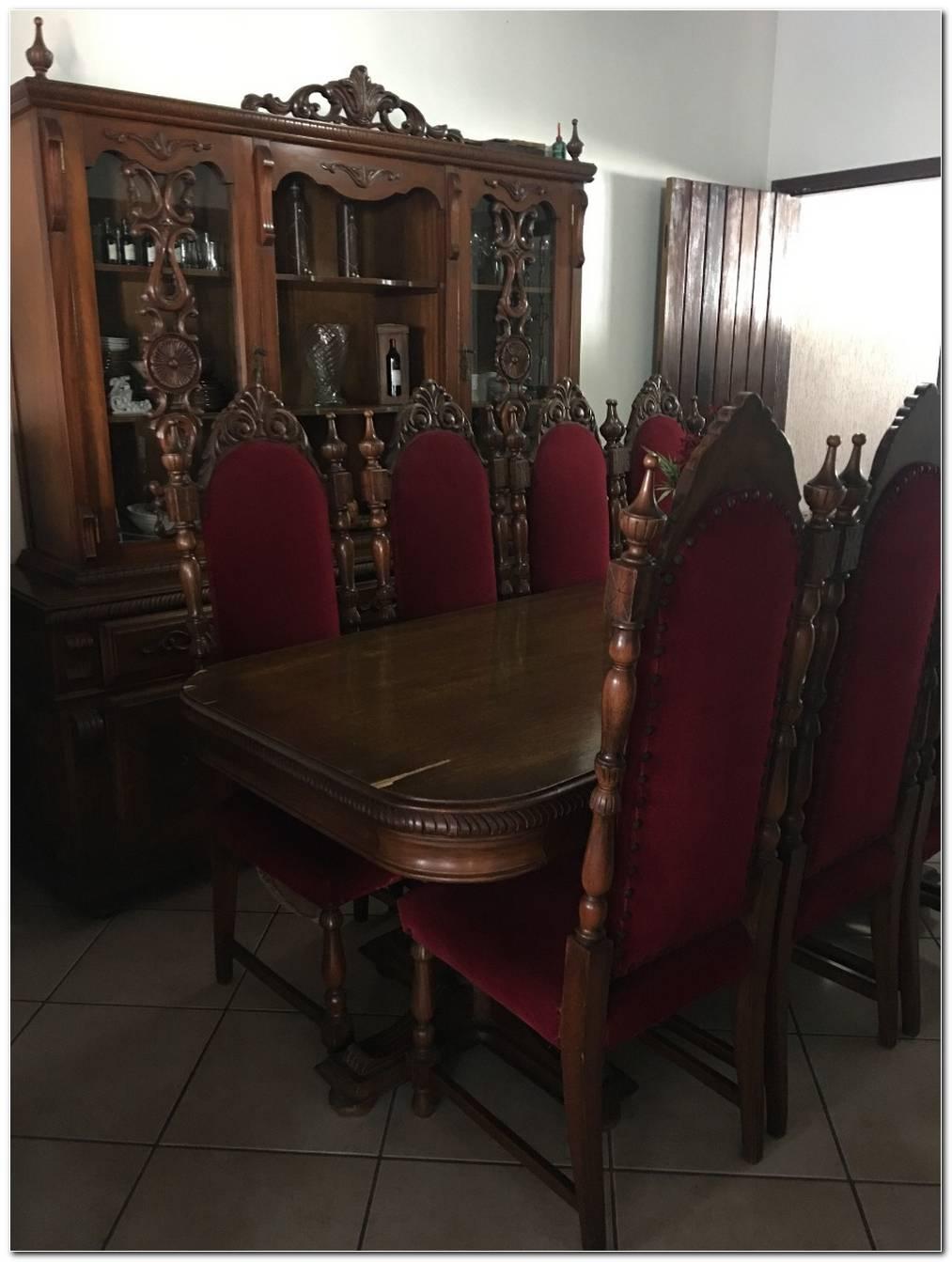 Jogo De Sala De Jantar Antigo