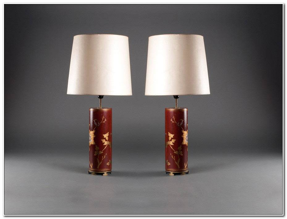 Lampe De Chevet Asiatique
