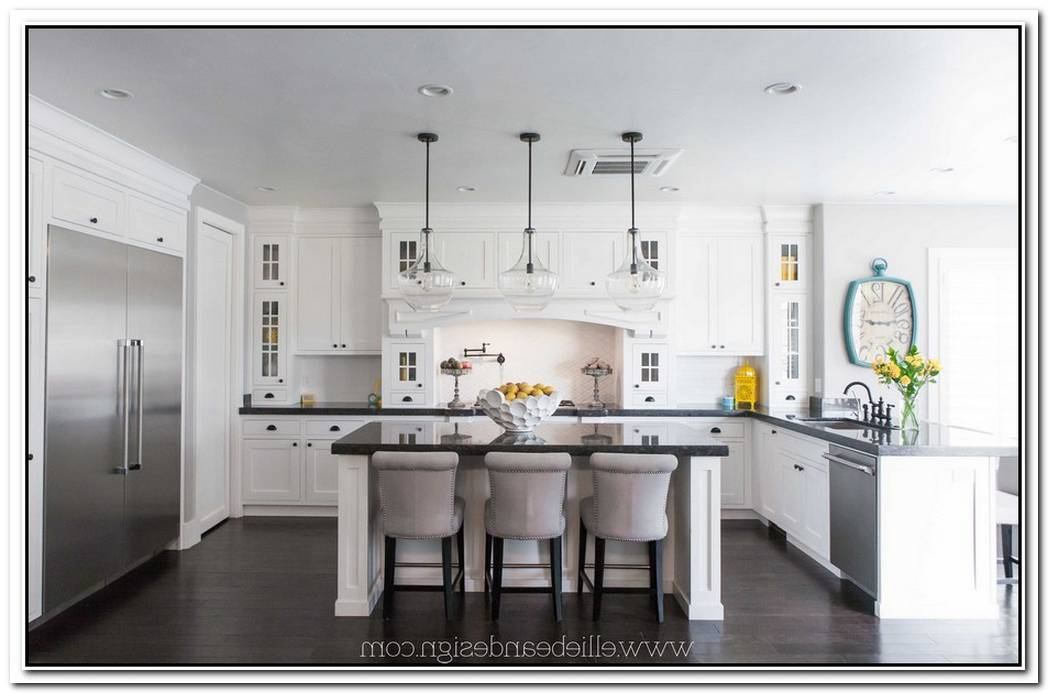 Large White Kitchen Interior Design