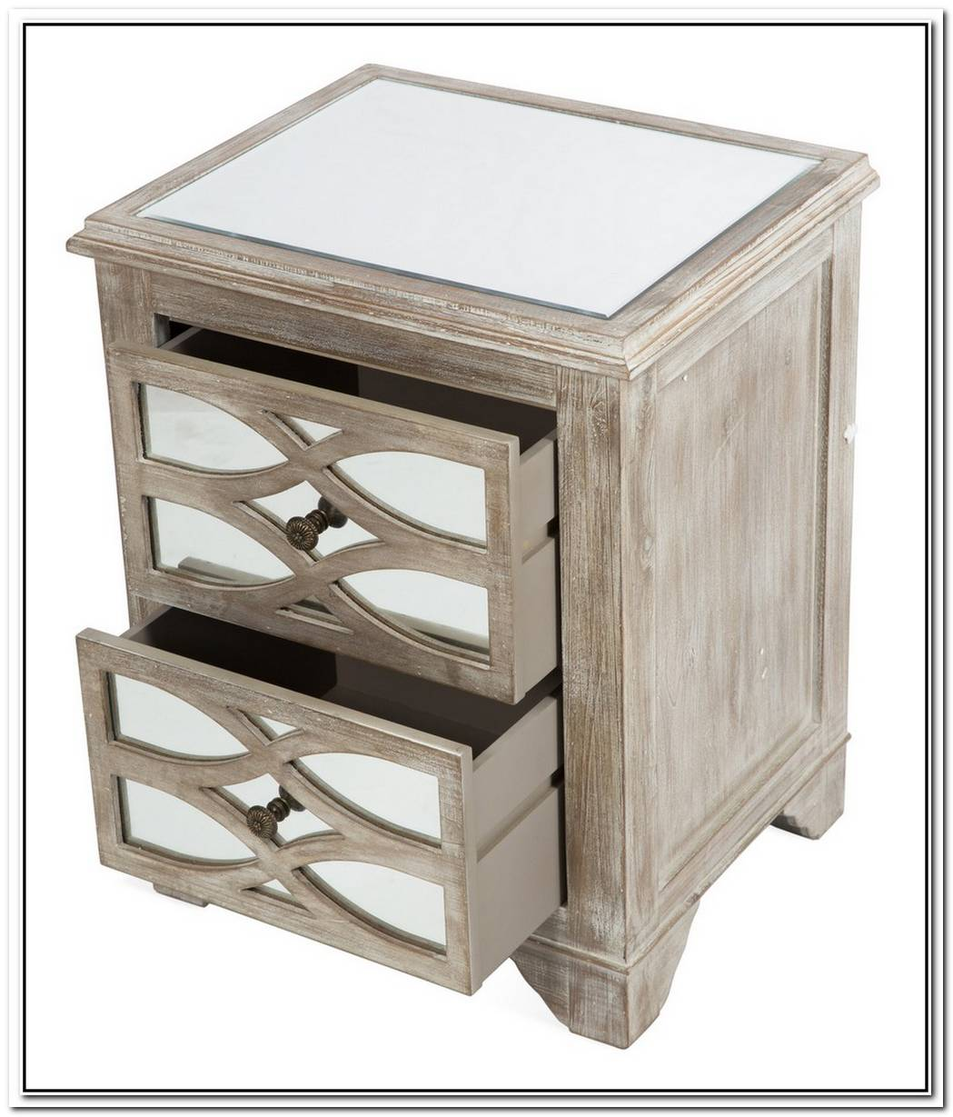 Lattice Nightstand Table