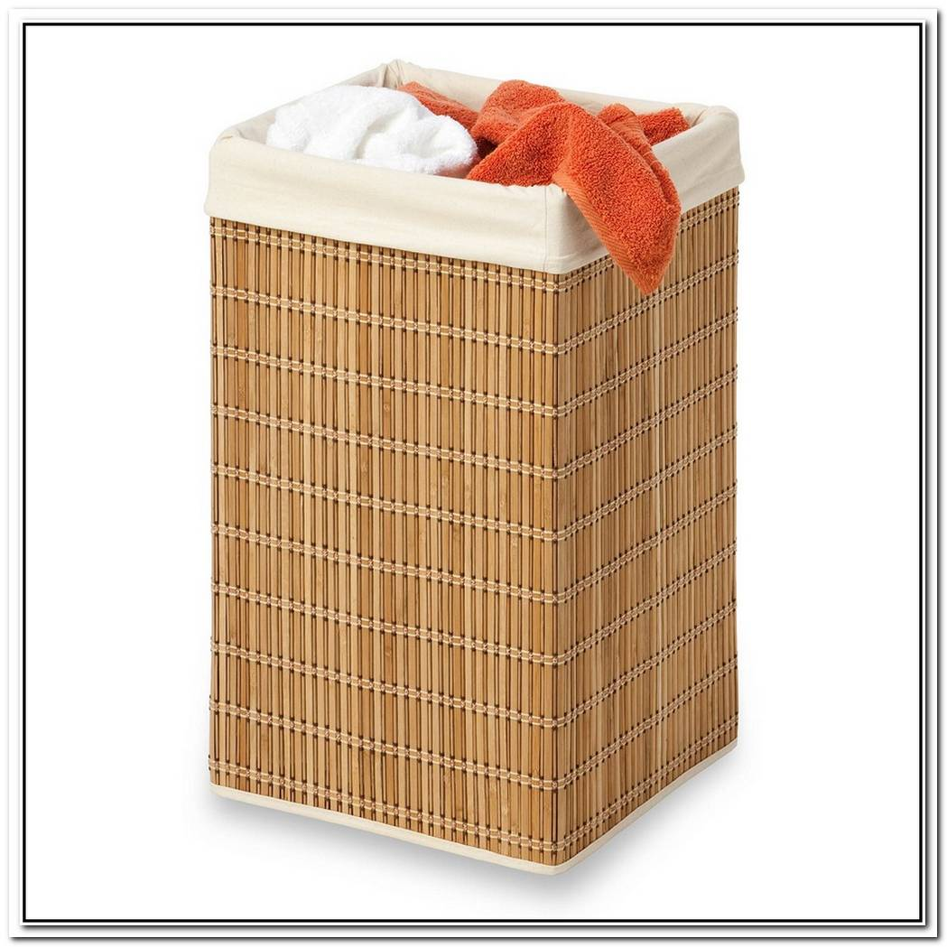 Laundry Hamper Made Of Bamboo