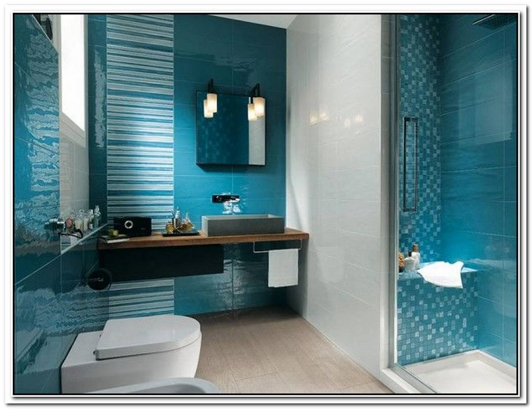 Lavish Aqua Bathroom