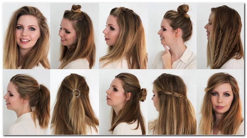 Leichte Frisuren Zum Selber Machen Lange Haare