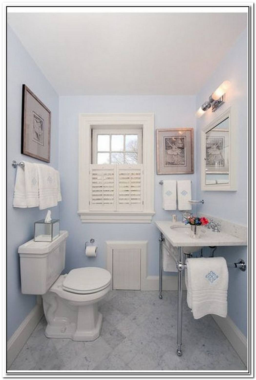 Light Blue Blue Bathroom Small
