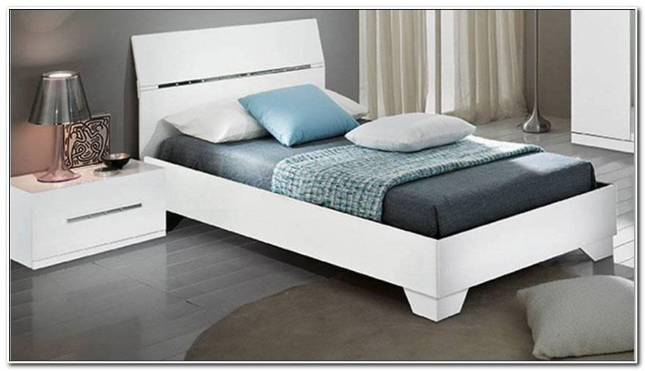 Lit Blanc Laque 90×190