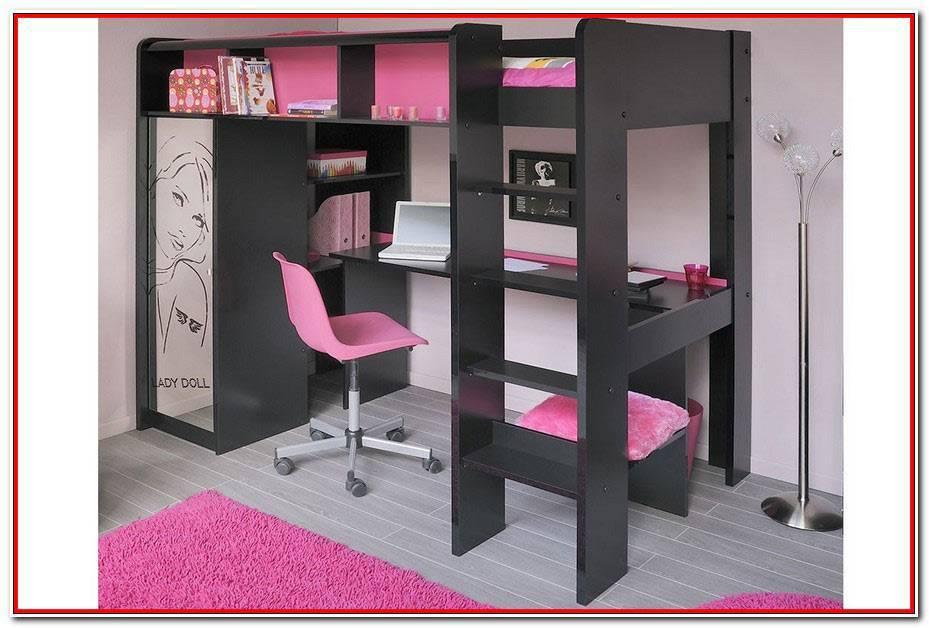 Lit Mezzanine Bureau Armoire