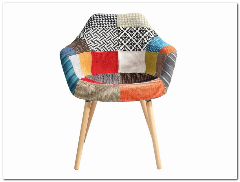 Luxe Fauteuil Scandinave Patchwork