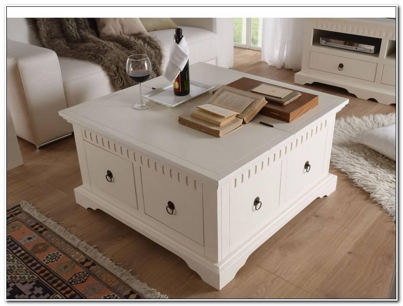 Luxe Table Basse Coffre Bois