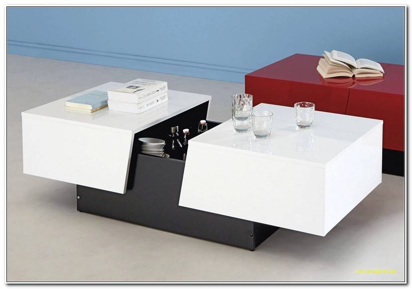 Luxe Table Basse Rangement Bar