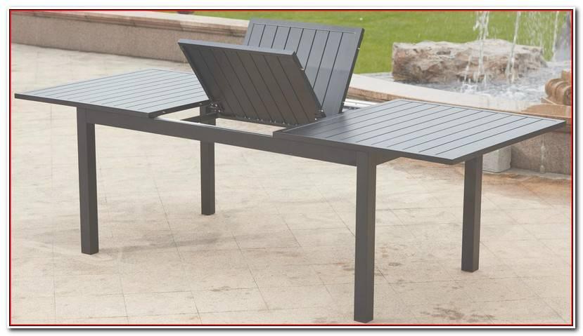 Luxe Table De Jardin En Aluminium Avec Rallonge