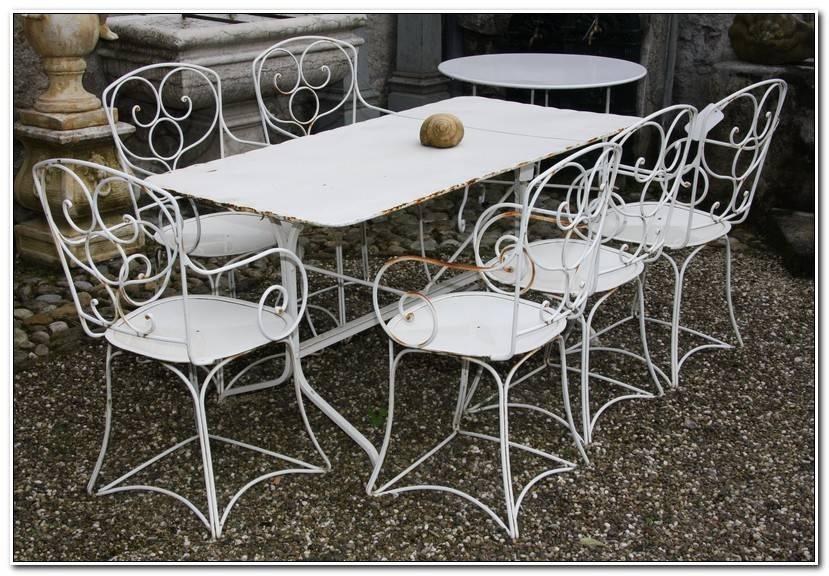 Luxe Table De Jardin Fer Forgé