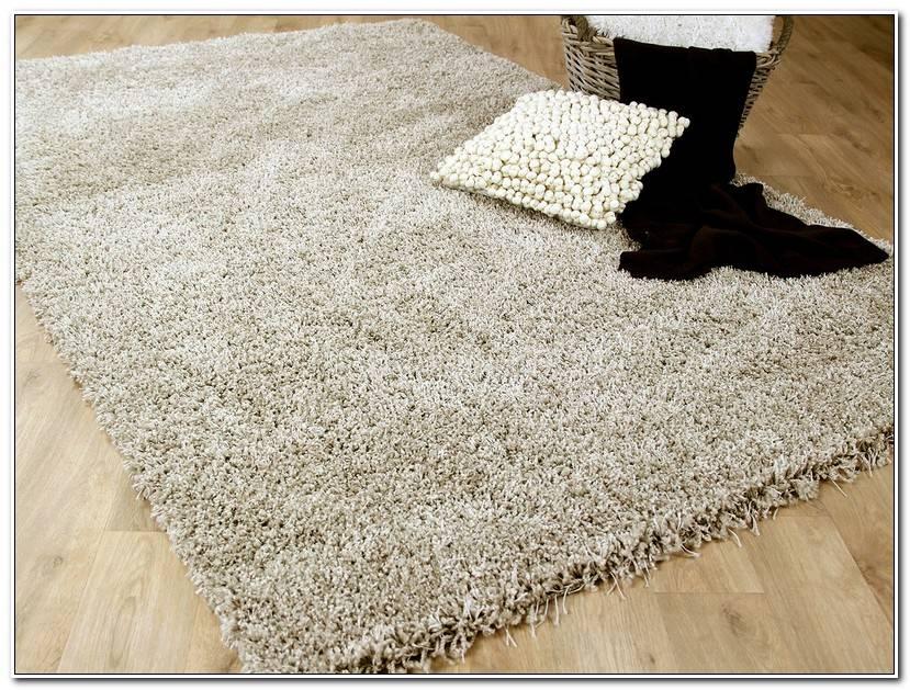 Luxury Hochflor Teppich Weiß