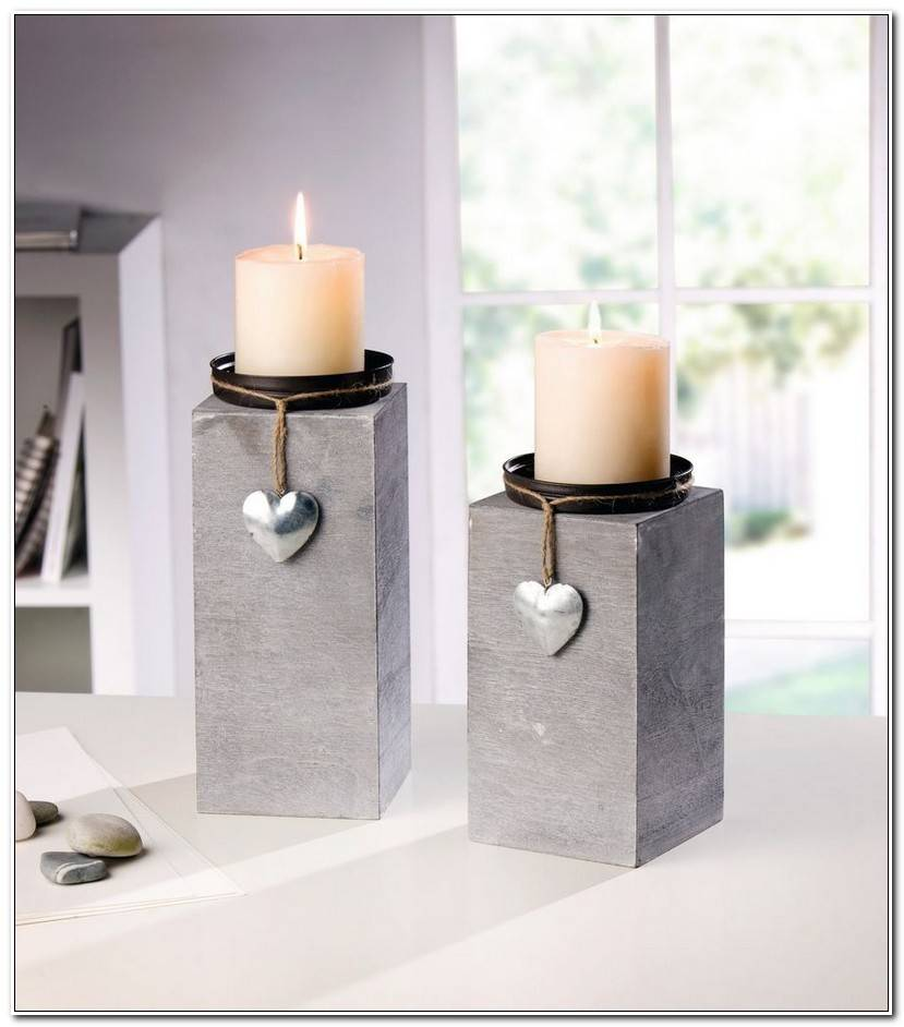 Maintain Kerzenst%C3%A4nder Silber Gro%C3%9F