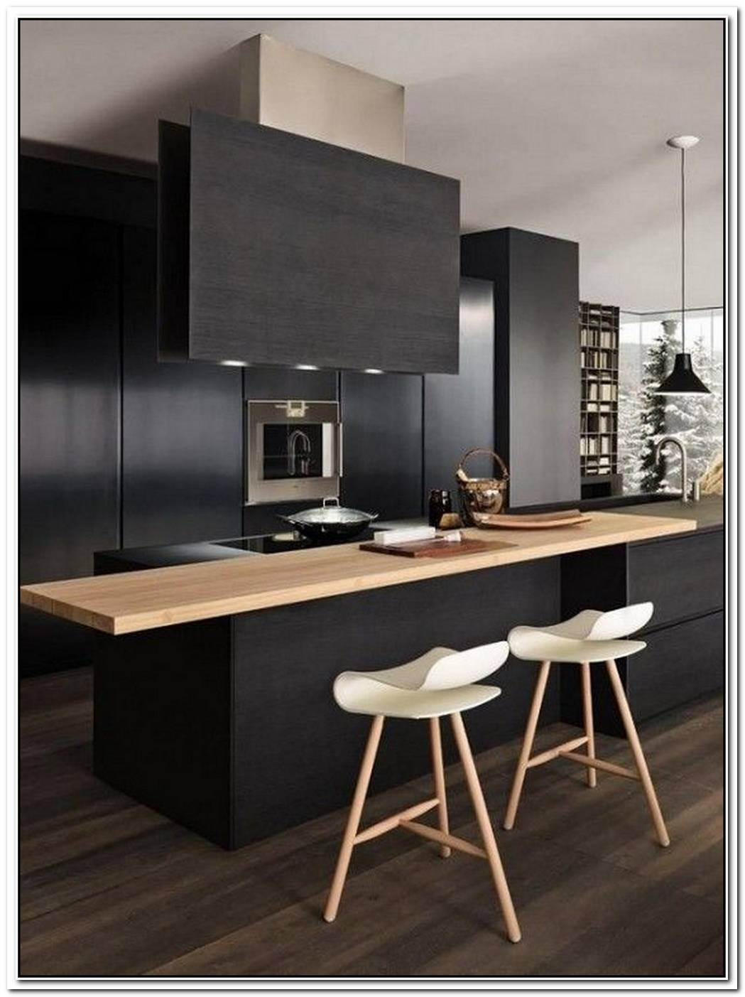 Make A Striking Statement With Black Kitchen Barstools