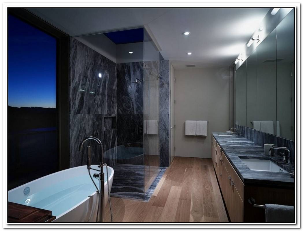 Mansion Contemporary Bathroom Organic Master